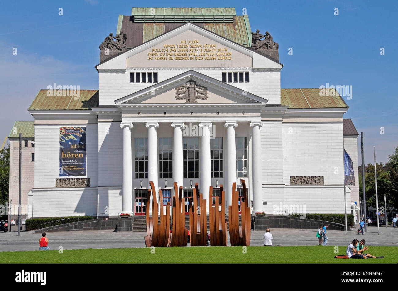 Architecture Outside View Ballet House Building In German German Opera On  Rhine Germany Duisburg Europe Building Construction