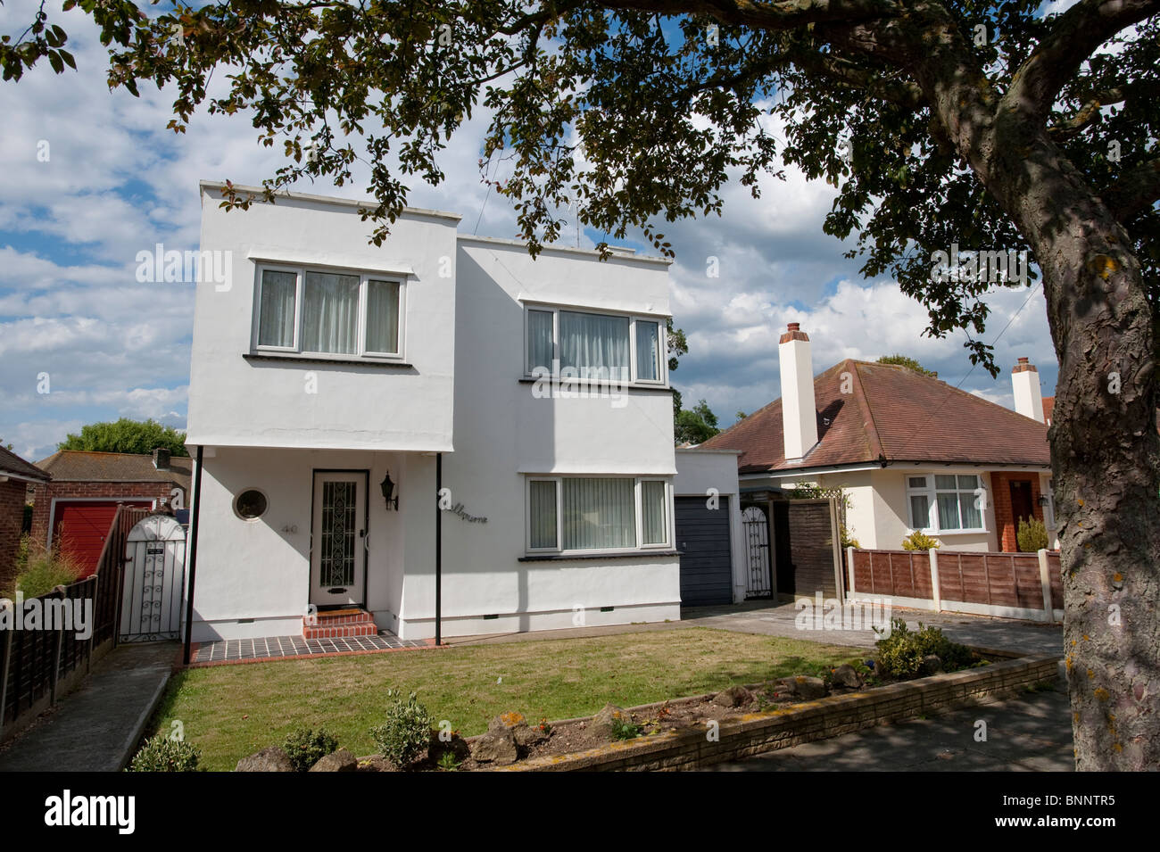 An Art Deco Style House Melbourne No 40 Waltham Way On The Stock Photo Alamy