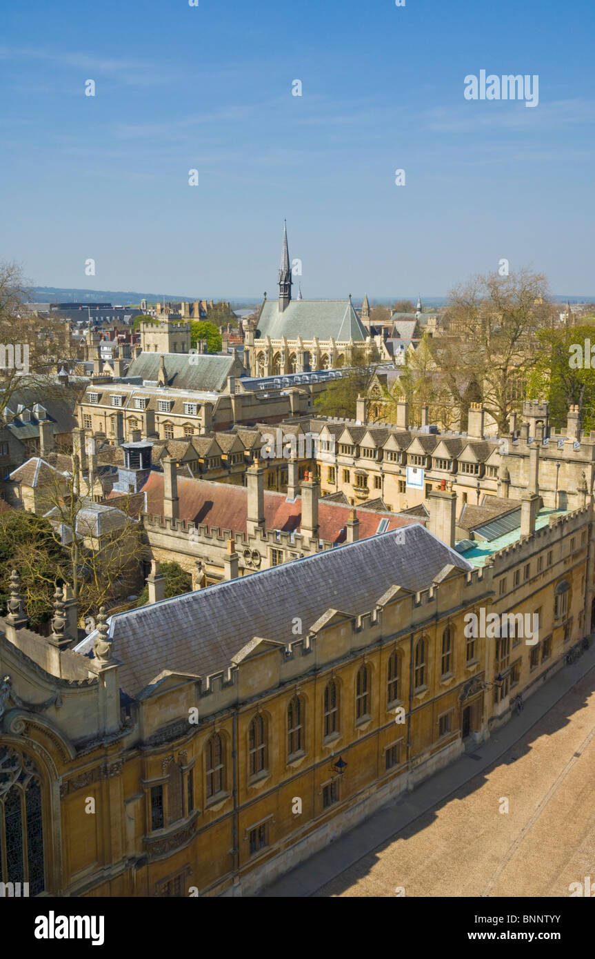 The outer walls of Brasenose College, University city of Oxford, Oxfordshire, England, UK, GB, EU, Europe - Stock Image