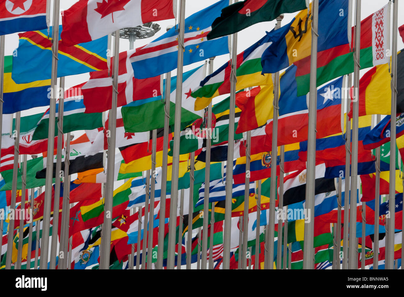 China Shanghai Expo world exhibit flags flags international travel traveling tourism vacation holidays - Stock Image