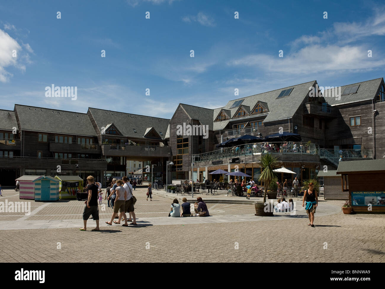 Discovery Quay in Falmouth in Cornwall. - Stock Image