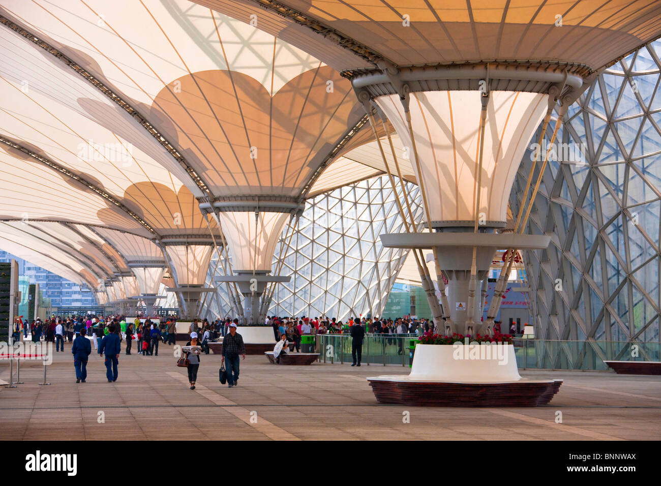 China Shanghai Expo Expo boulevard architecture world exhibit traveling tourism vacation holidays architecture - Stock Image