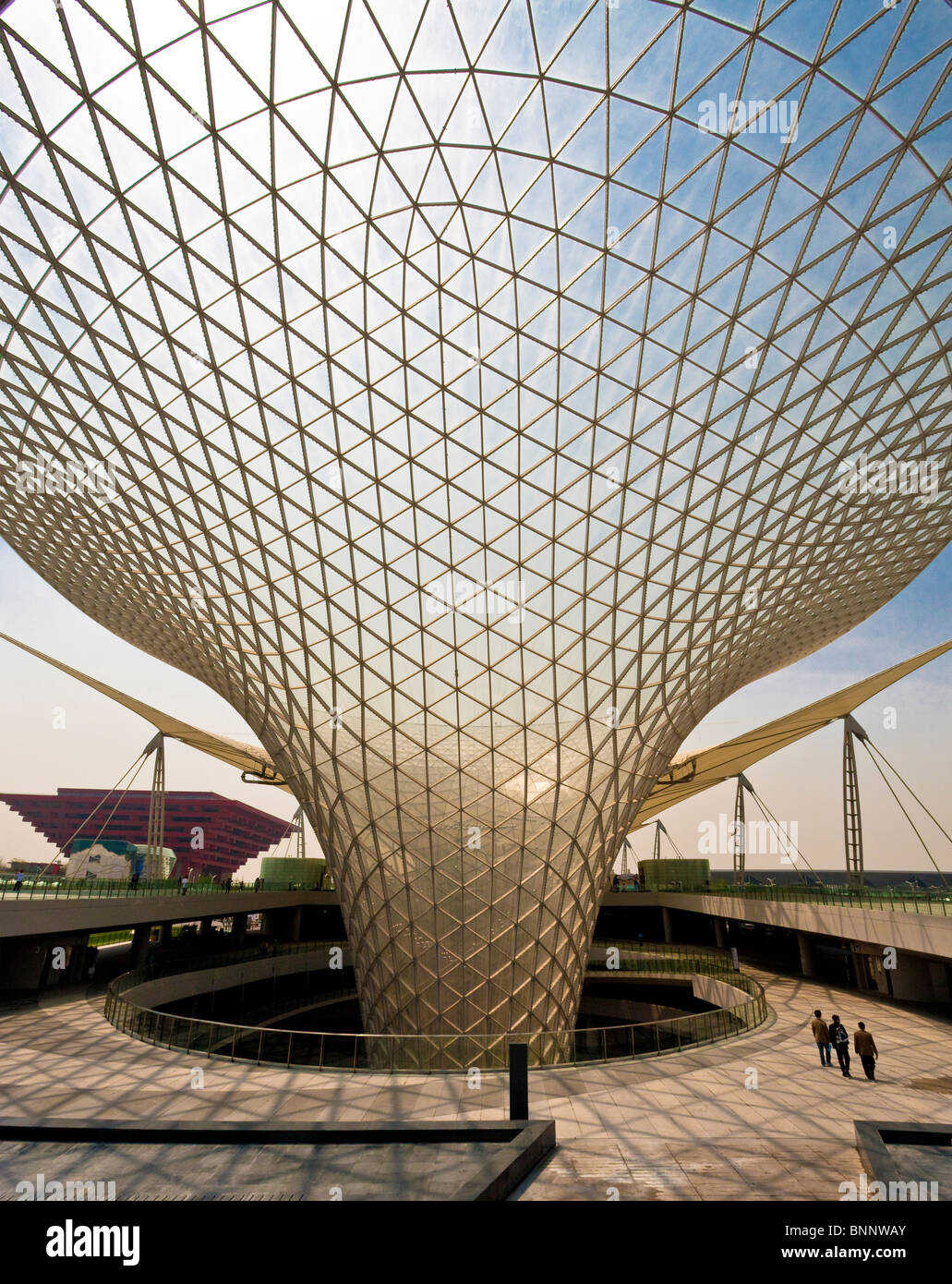 China Shanghai Expo Expo boulevard architecture world exhibit traveling tourism vacation holidays architecture - Stock Image