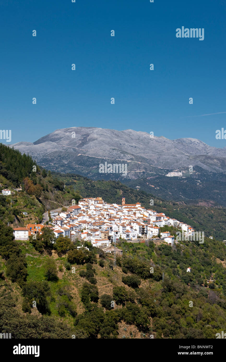 Andalusia Spain Serrania de Ronda village hill knows travel traveling tourism vacation holidays - Stock Image