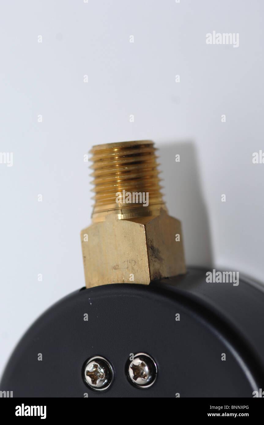 Pressure gauge. - Stock Image