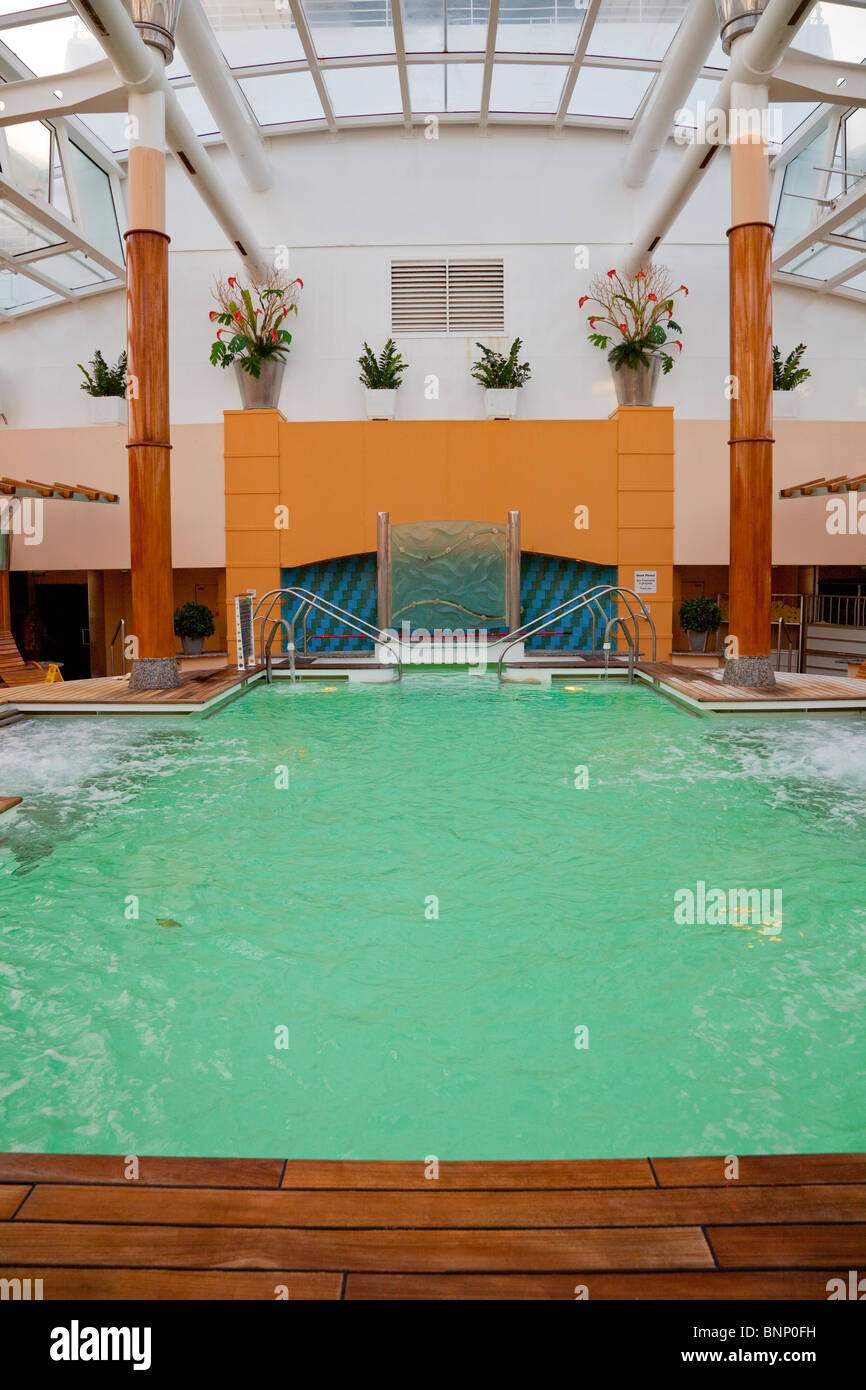 The therapy pool at the spa of the Celebrity cruise ship Millenium. - Stock Image