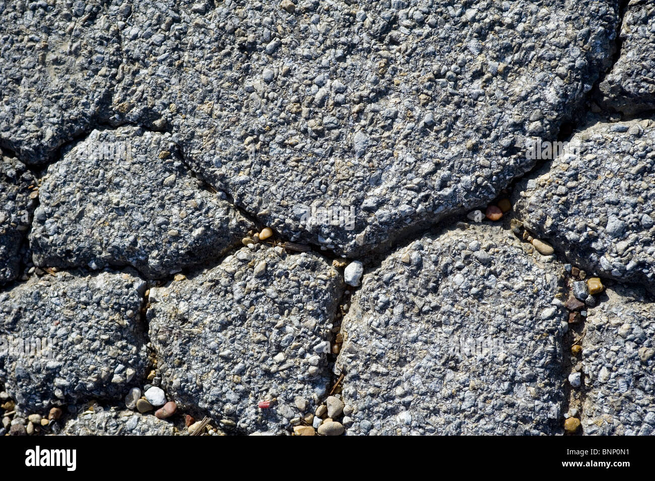 Pavement/Asphalt Cracked - Stock Image