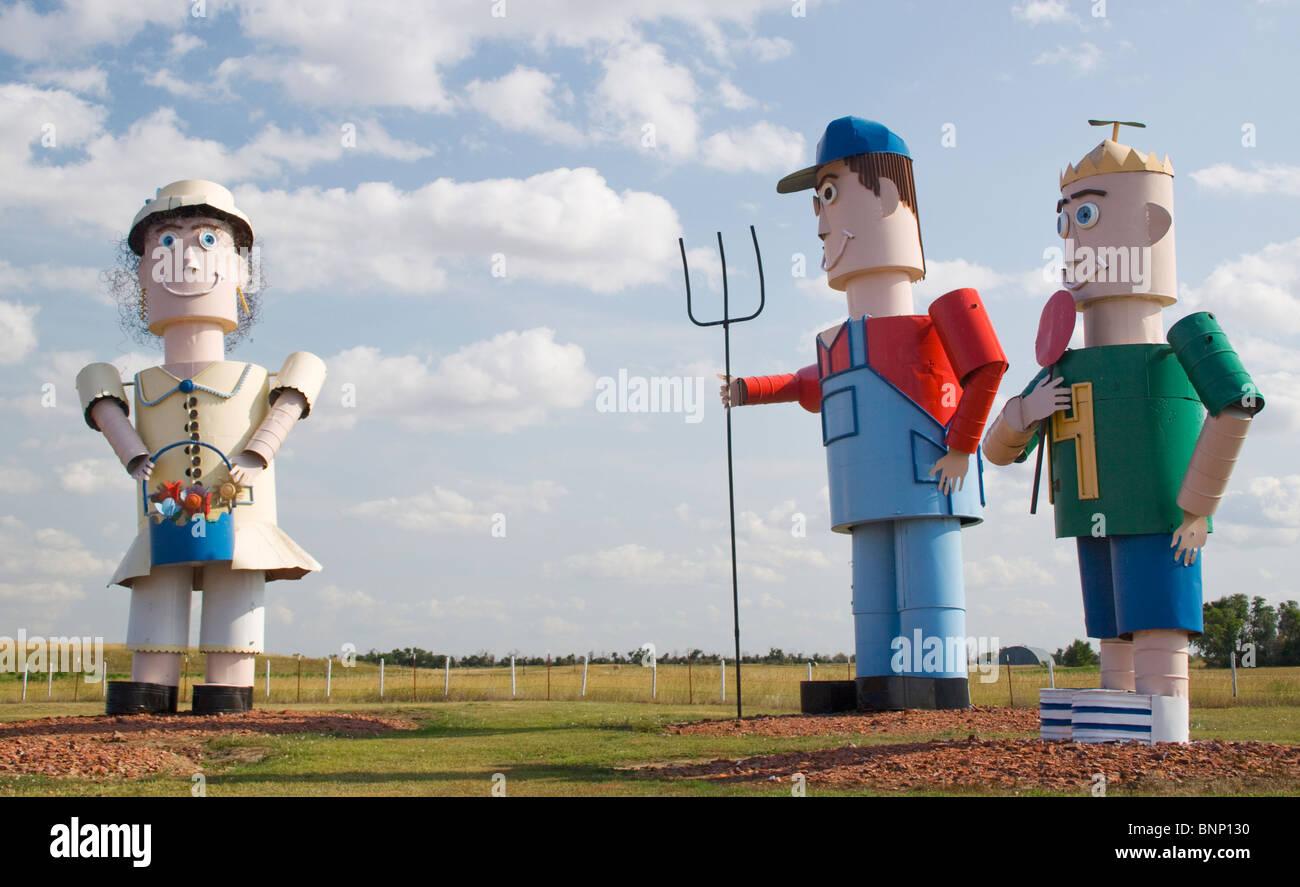 The Enchanted Highway Art Sculptures on the road to Regent North Dakota - Stock Image