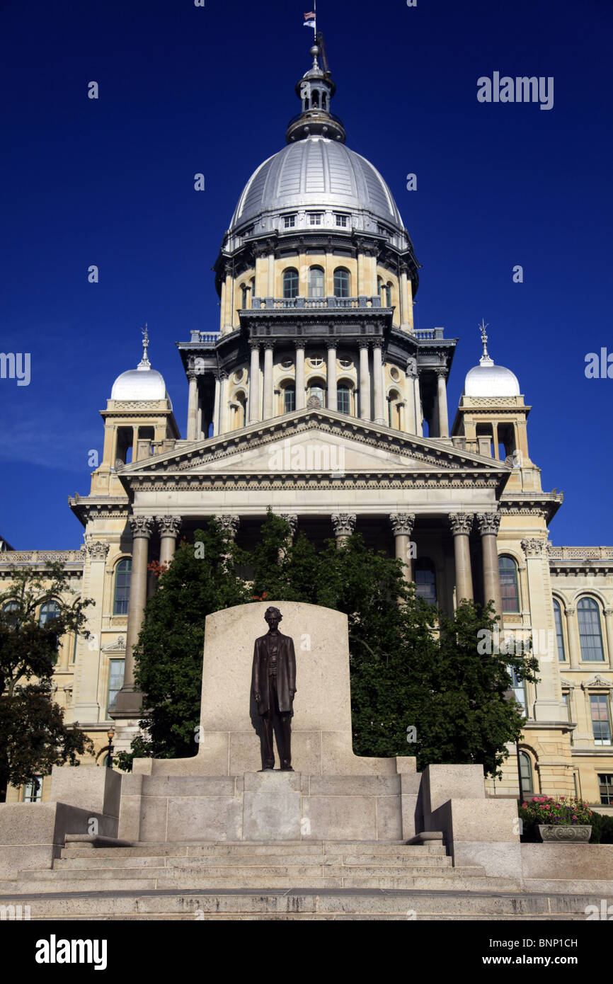 Illinois state capitol - Stock Image