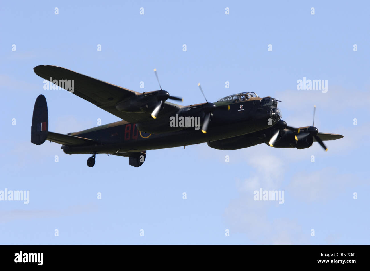Avro Lancaster B1 operated by the RAF Battle of Britain Flight. Stock Photo