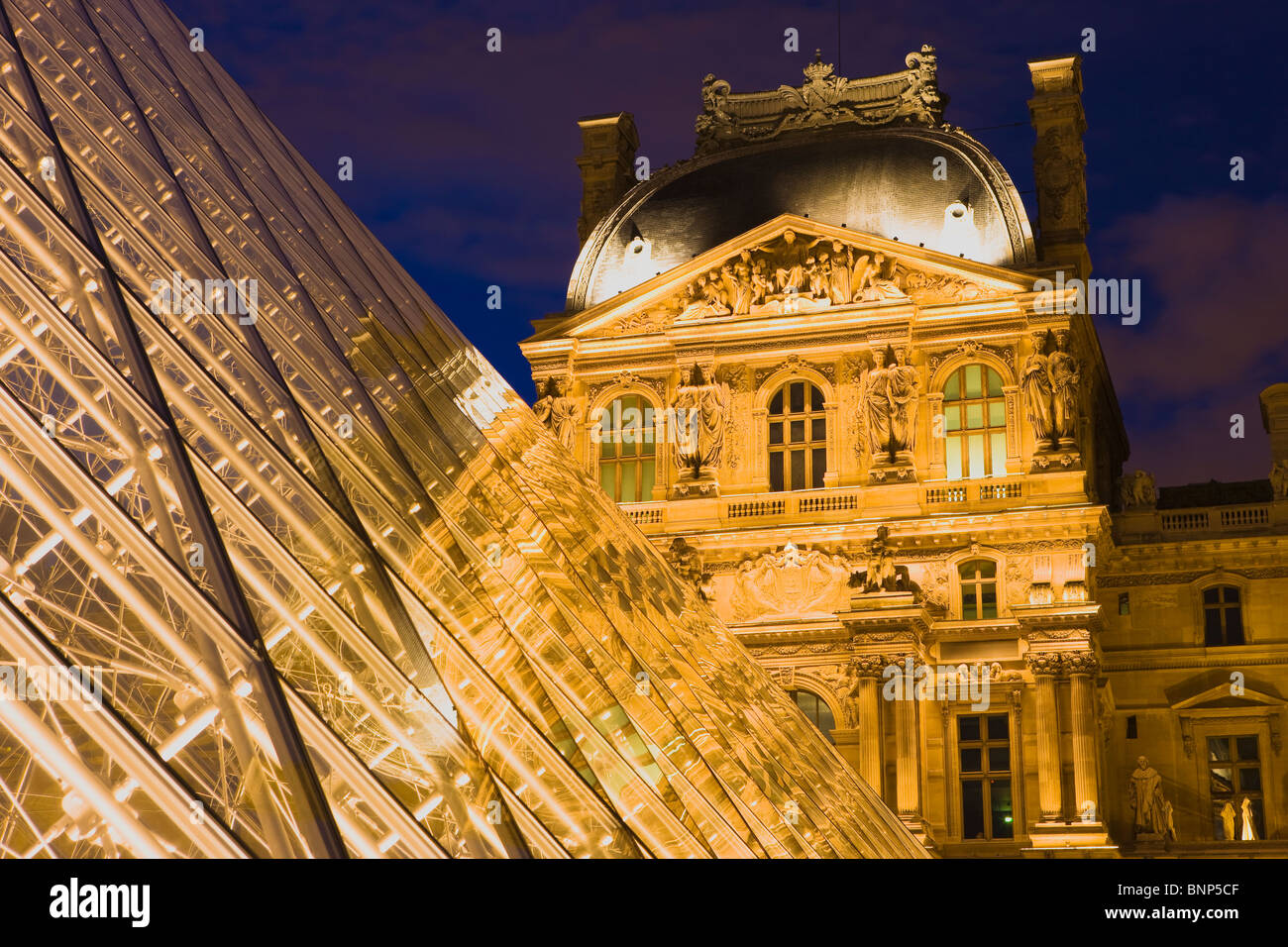 The Louvre Palace and Museums, Paris, France - Stock Image