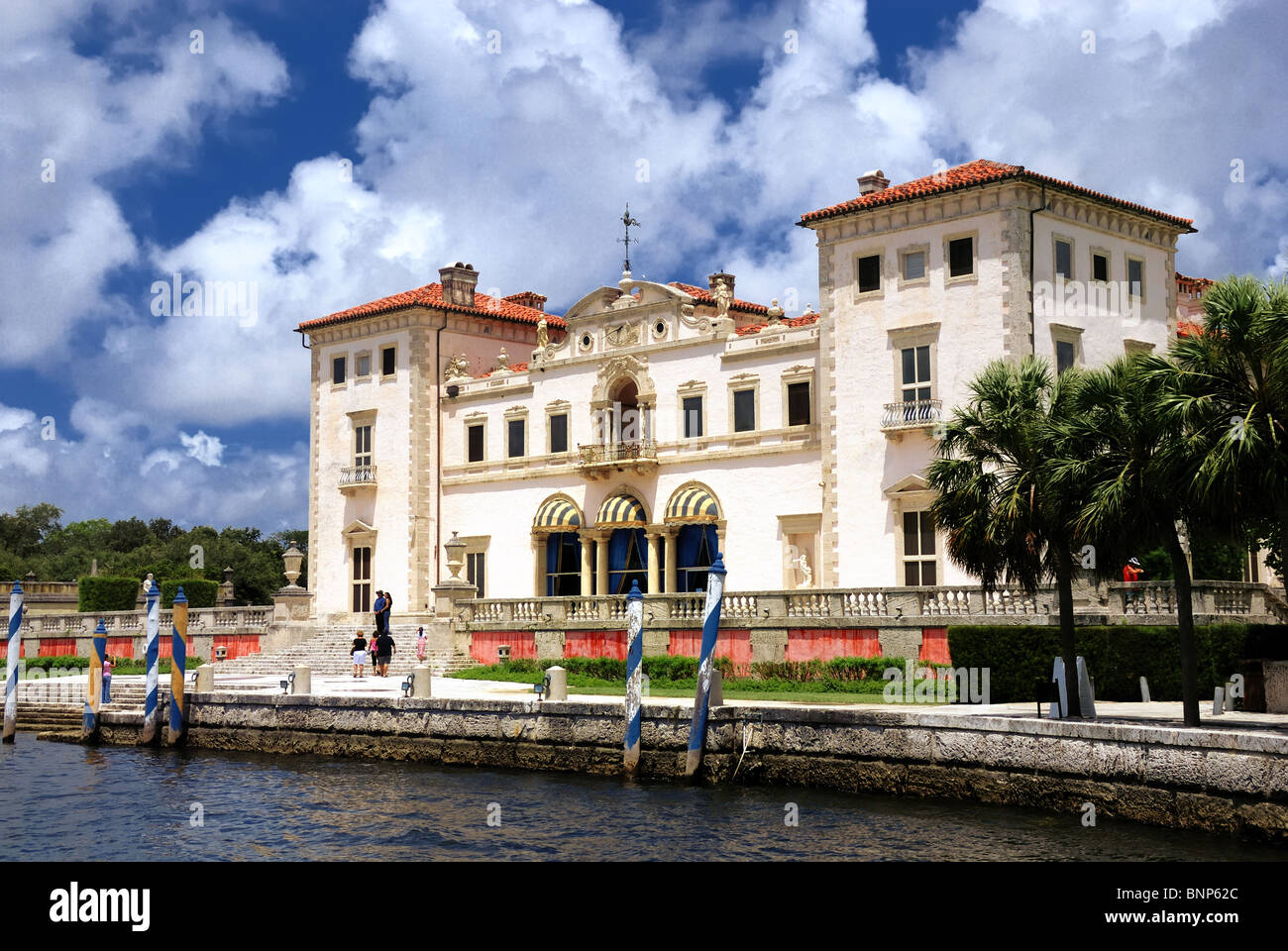 Vizcaya Museum and Gardens is the landmark Villa and Estate  on Biscayne Bay in Miami, Florida. Stock Photo