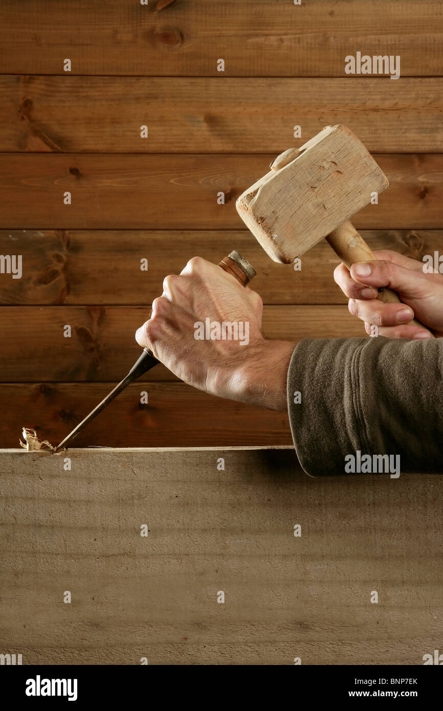 Carpentry Carpenter Woodworker Woodworking Wooden: Gouge Stock Photos & Gouge Stock Images