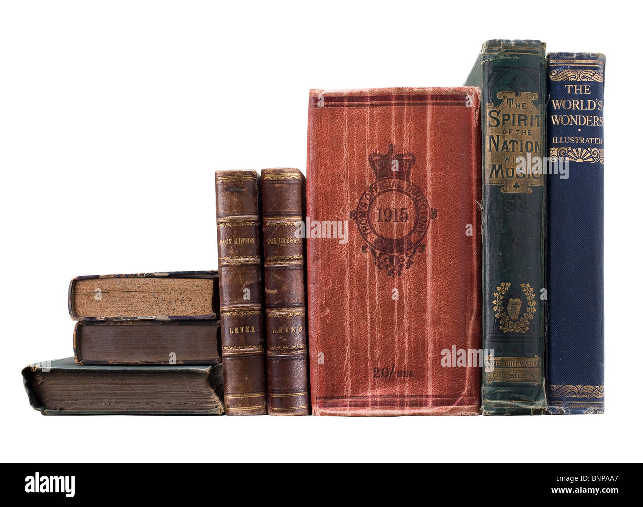 stack of books, pile of books - Stock Image