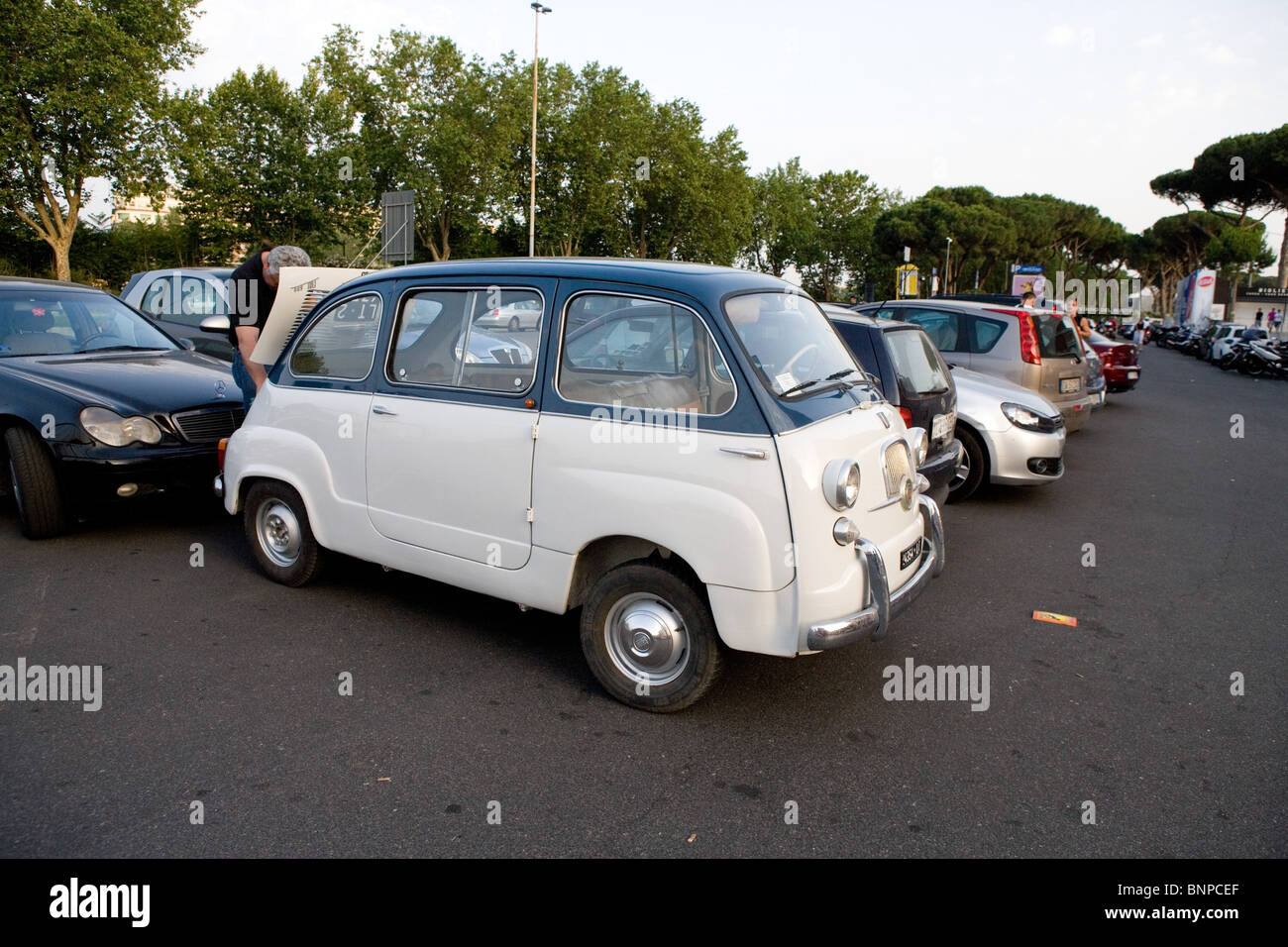 classic car old Italian vintage car Fiat 600 60's years - Stock Image