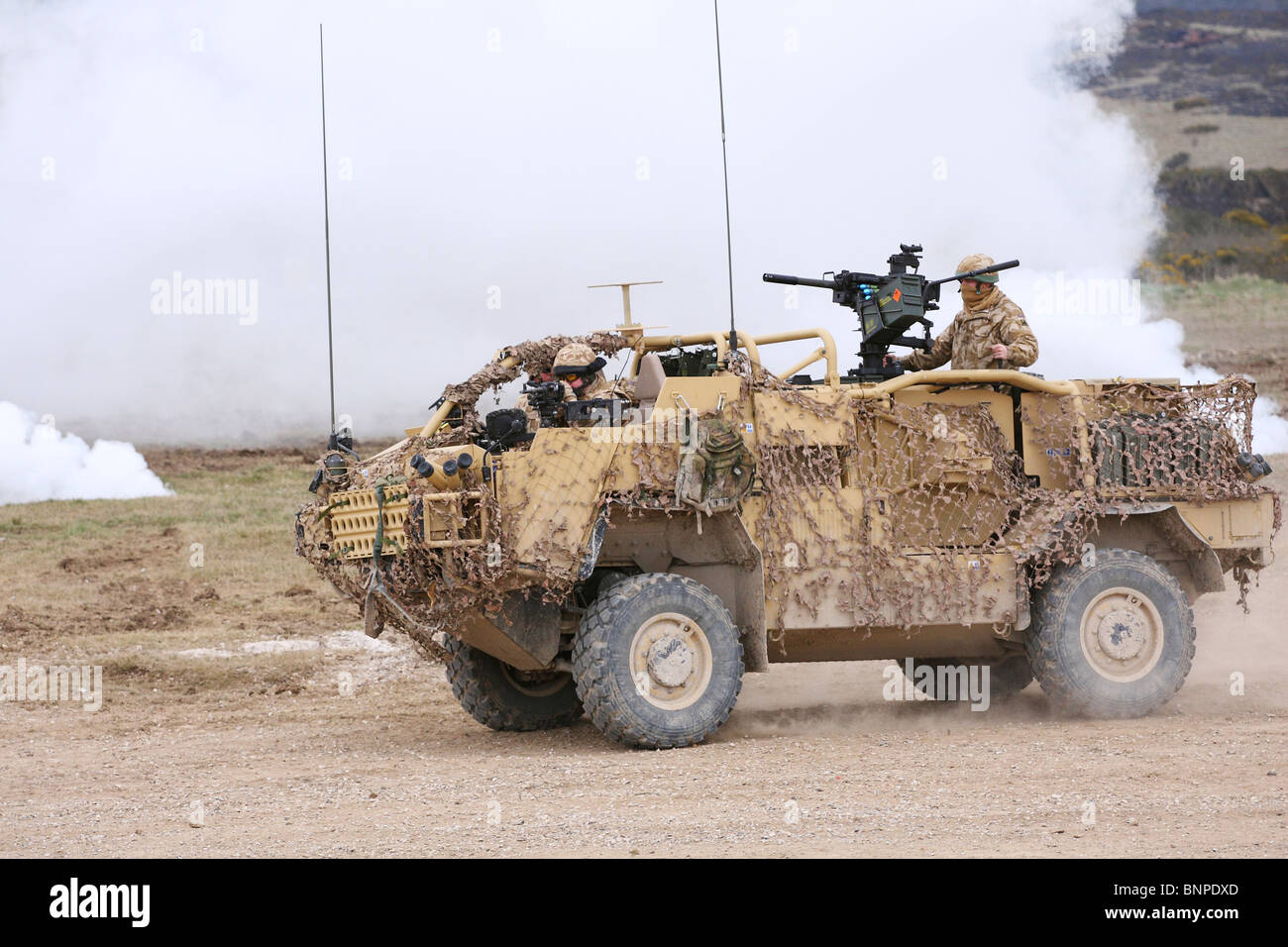 British Army Jackal Armoured Vehicle Stock Photo