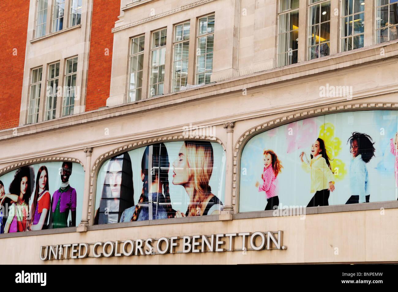 United Colors of Benetton, Brompton Road, Knightsbridge, London, England, UK - Stock Image