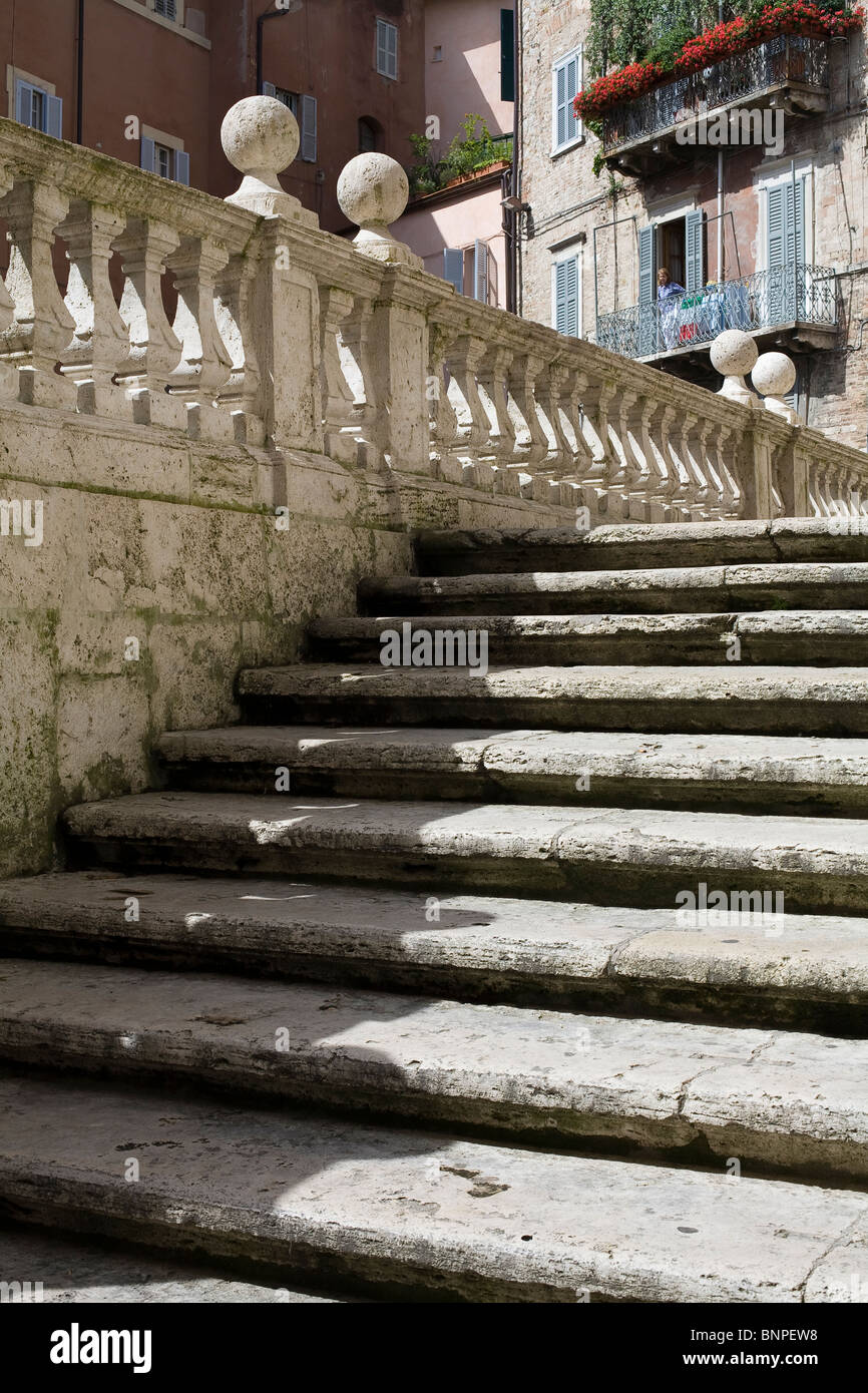 steps casting a shadow pattern - Stock Image