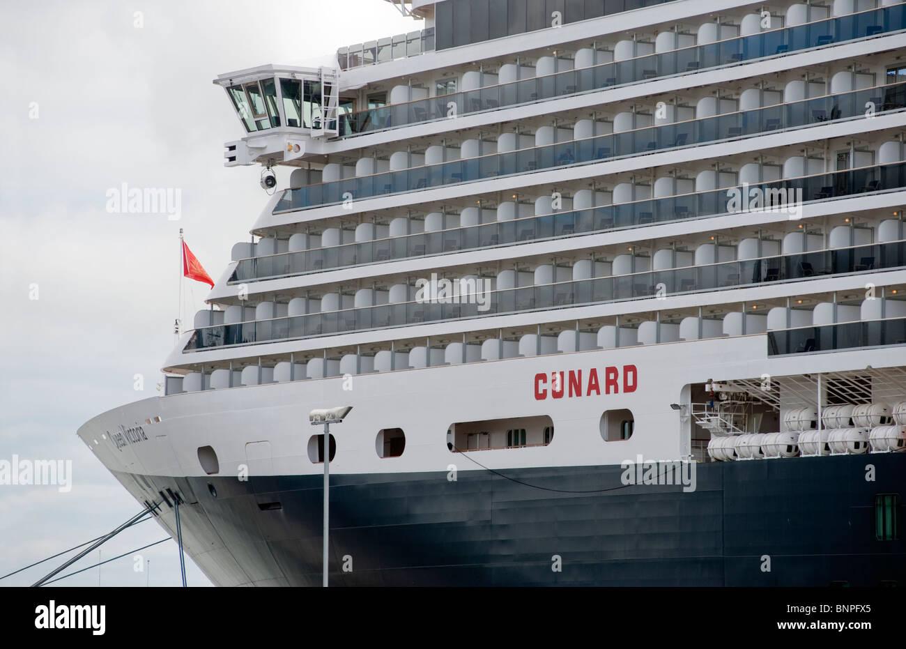 Cunard cruise liner Queen Victoria,Belfast. - Stock Image