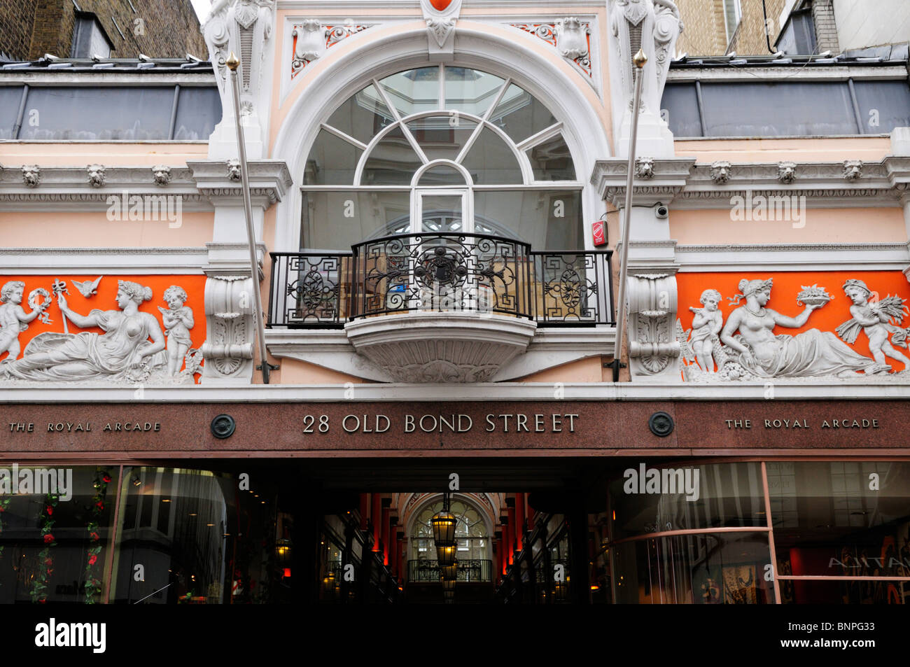 The Royal Arcade, Old Bond Street, Mayfair, London, England, UK - Stock Image
