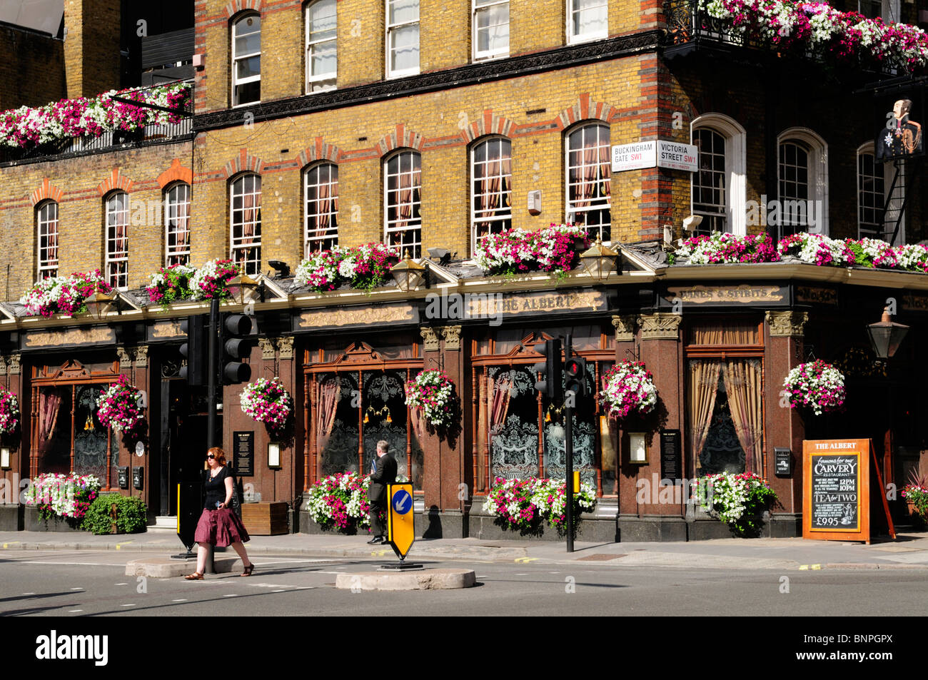 The Albert Pub in Victoria Street, Westminster, London, England, UK - Stock Image