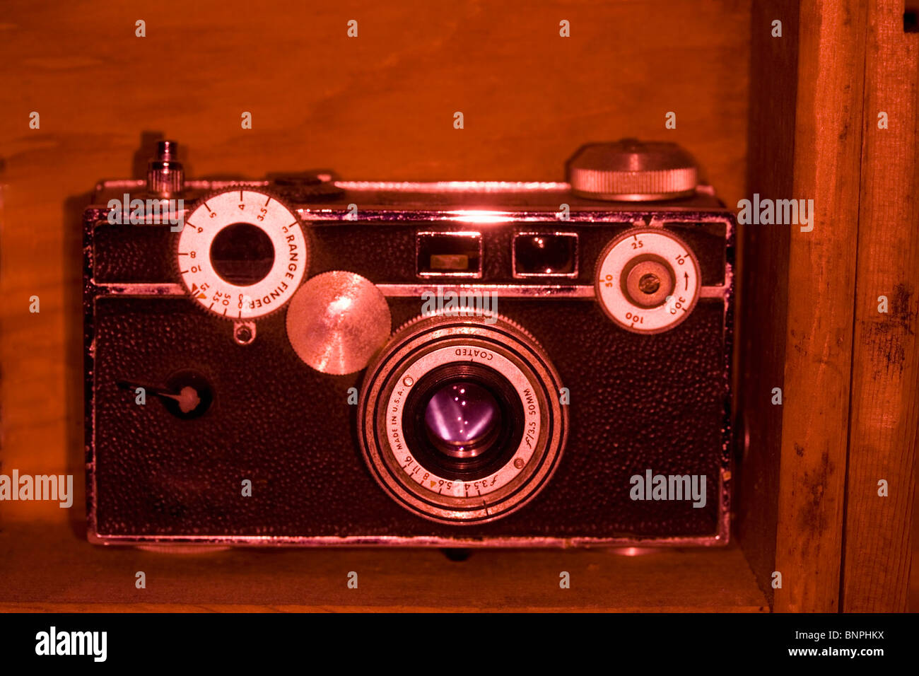 An old camera - Stock Image