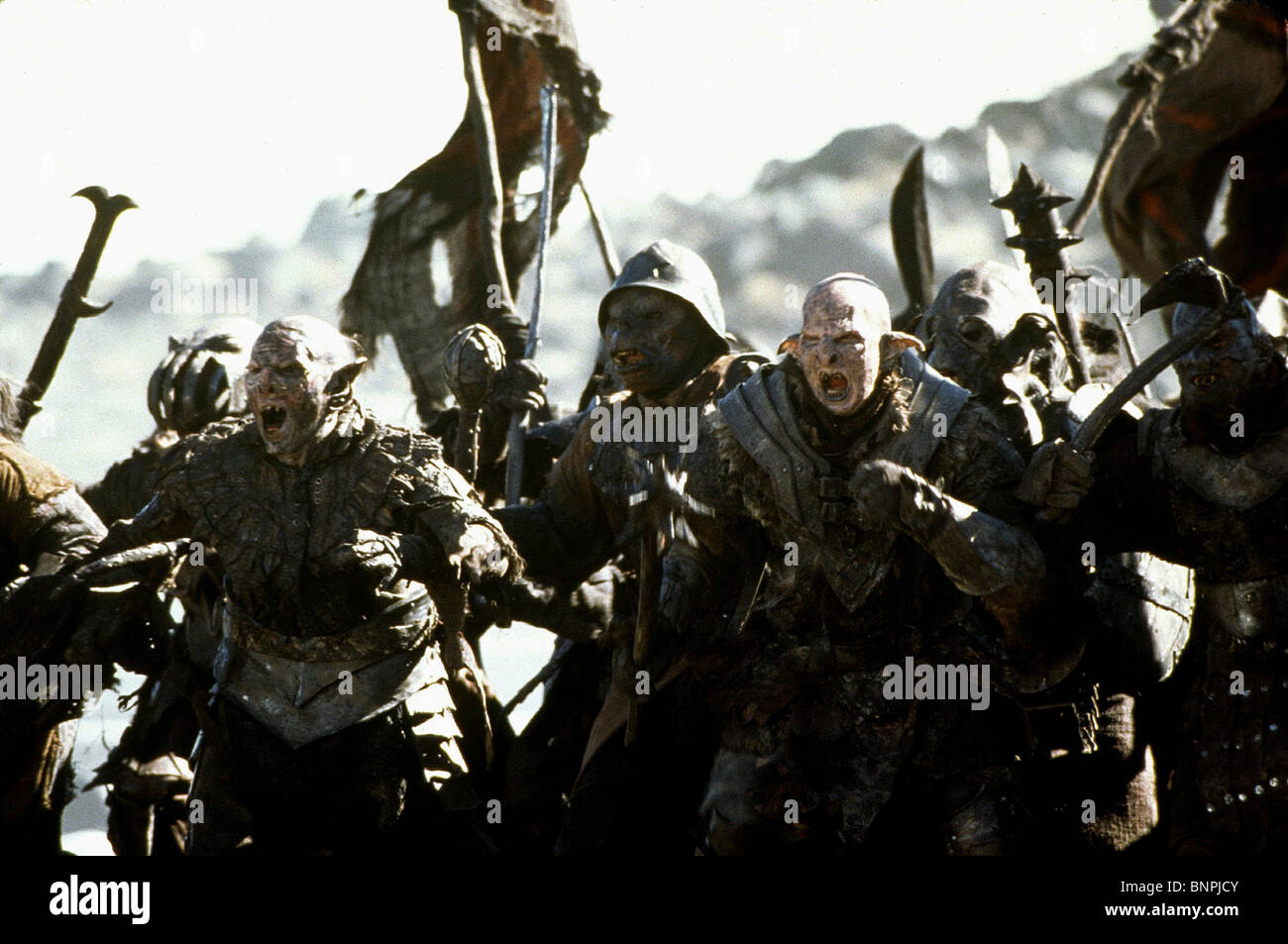 The Orcs The Lord Of The Rings The Fellowship Of The Ring 2001 Stock Photo Alamy