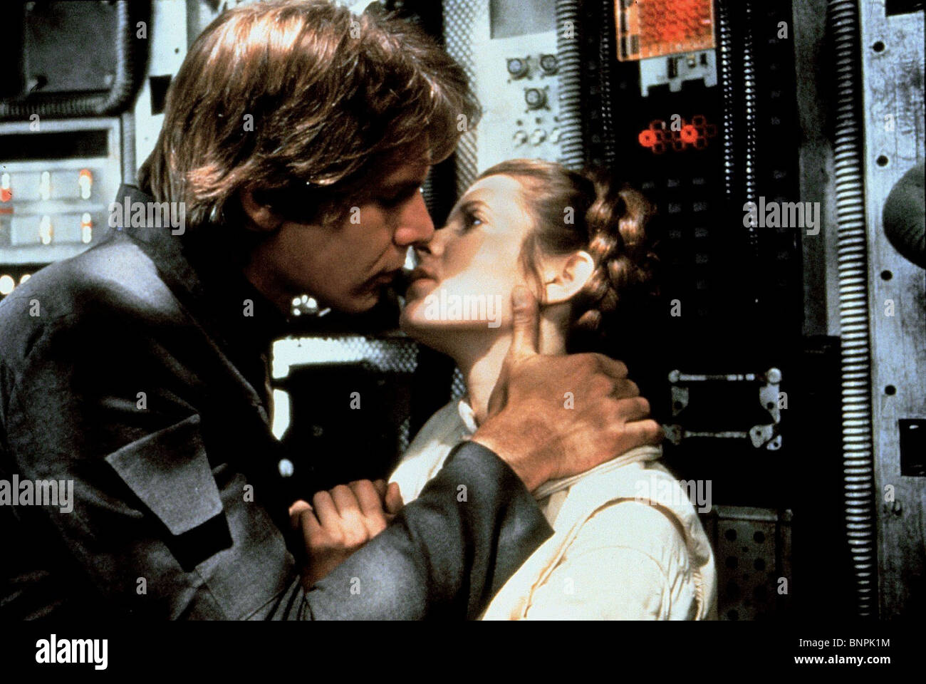 HARRISON FORD & CARRIE FISHER STAR WARS: THE EMPIRE STRIKES BACK; STAR WARS: EPISODE V - THE EMPIRE STRIKES - Stock Image