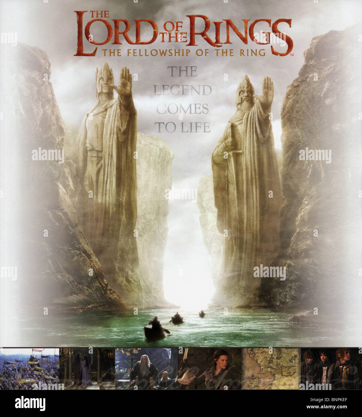 Film Poster The Lord Of The Rings The Fellowship Of The Ring 2001 Stock Photo Alamy