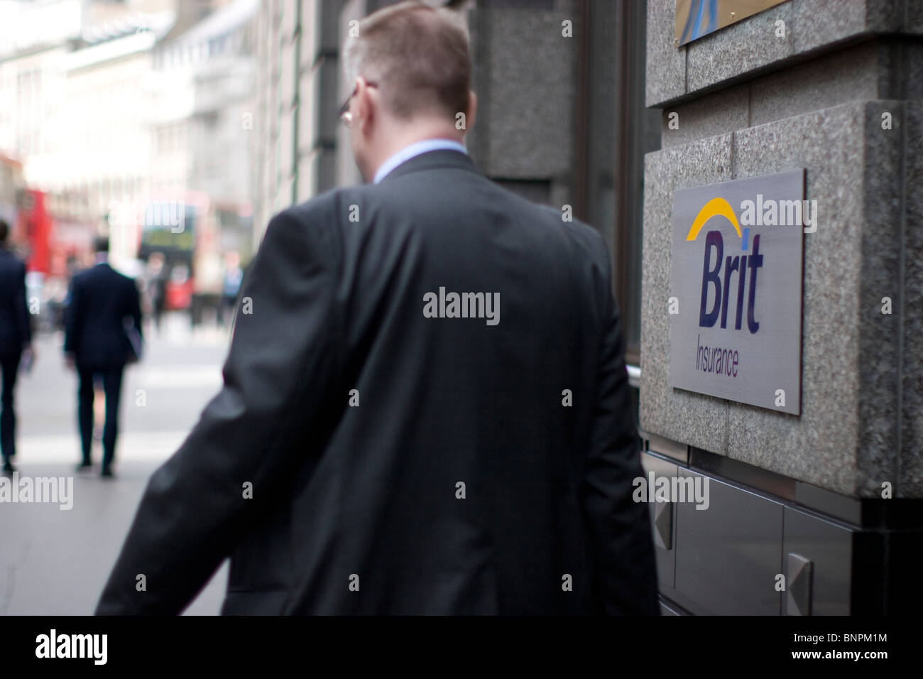 brit insurance headquarters bishopsgate london - Stock Image