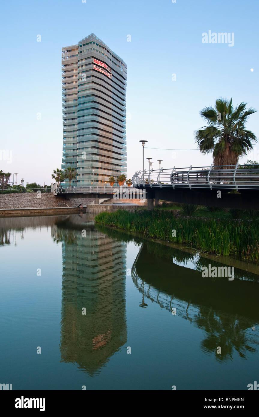 Diagonal mar, Illa del Mar, Barcelona, Catalunya, España Stock Photo