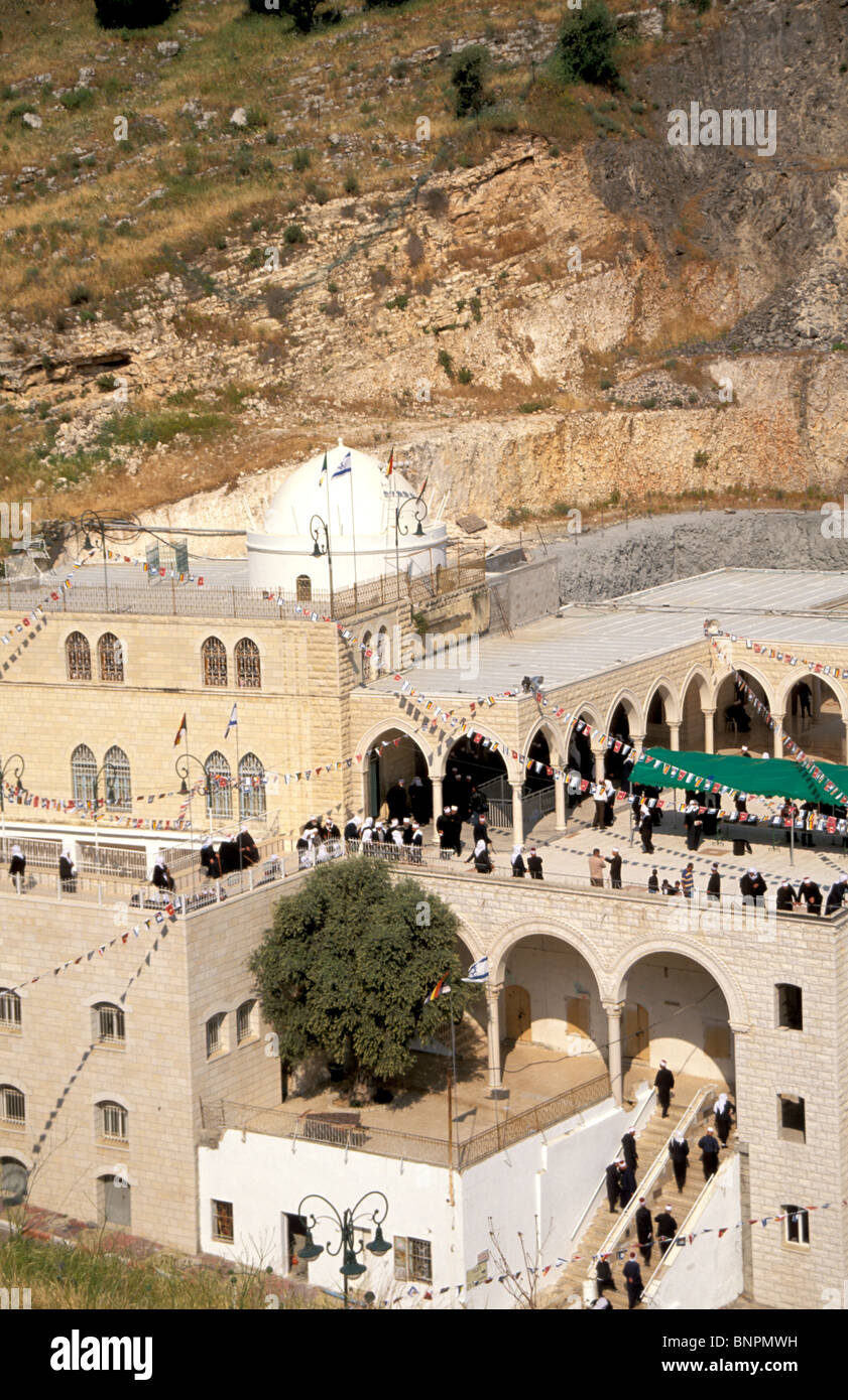 Druze pilgrimage to Nabi Shueib - Stock Image