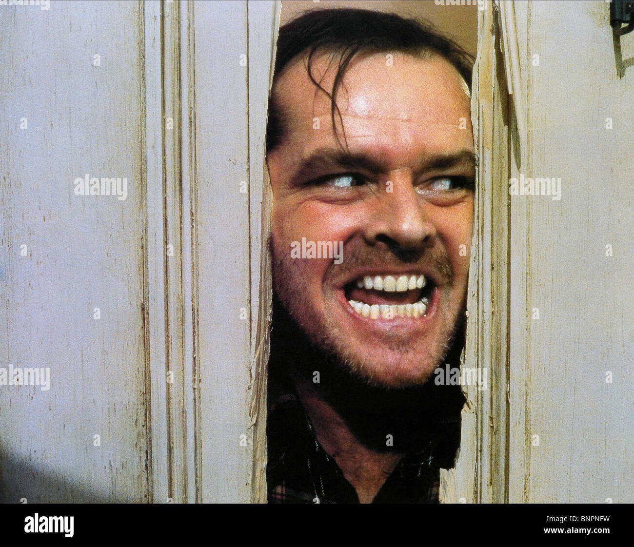 JACK NICHOLSON THE SHINING (1980) - Stock Image