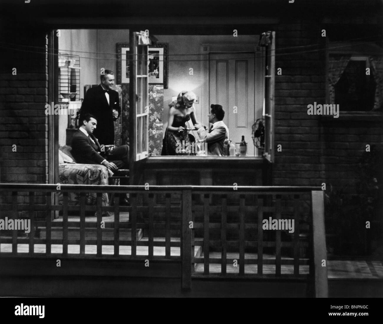 WINDOW SCENE REAR WINDOW; (1954) - Stock Image