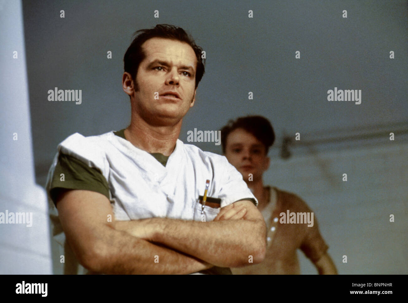 JACK NICHOLSON AND BRAD DOURIF ONE FLEW OVER THE CUCKOO'S NEST (1975) - Stock Image