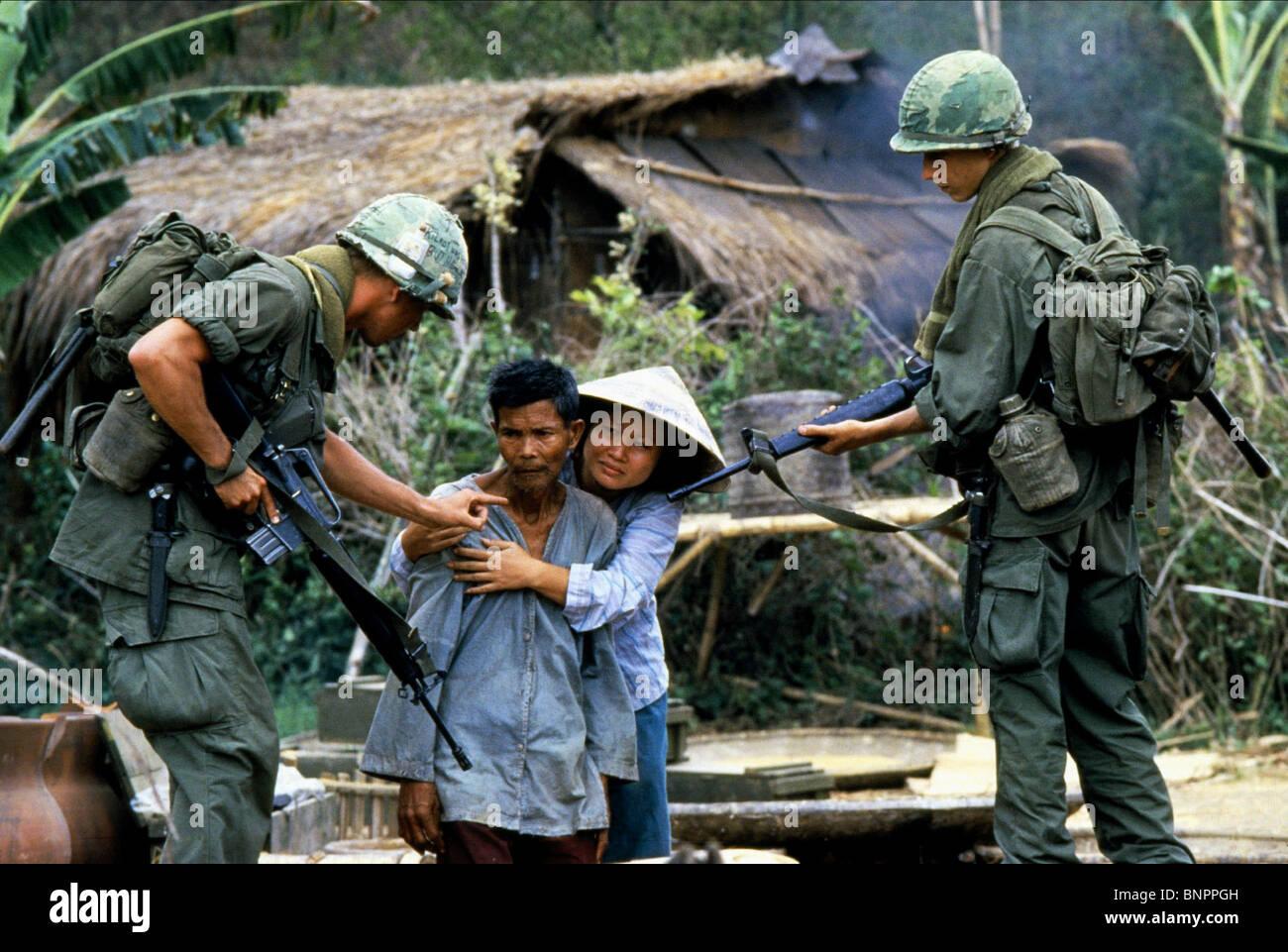 Vietnam War Scene Platoon 1986 Stock Photos & Vietnam War