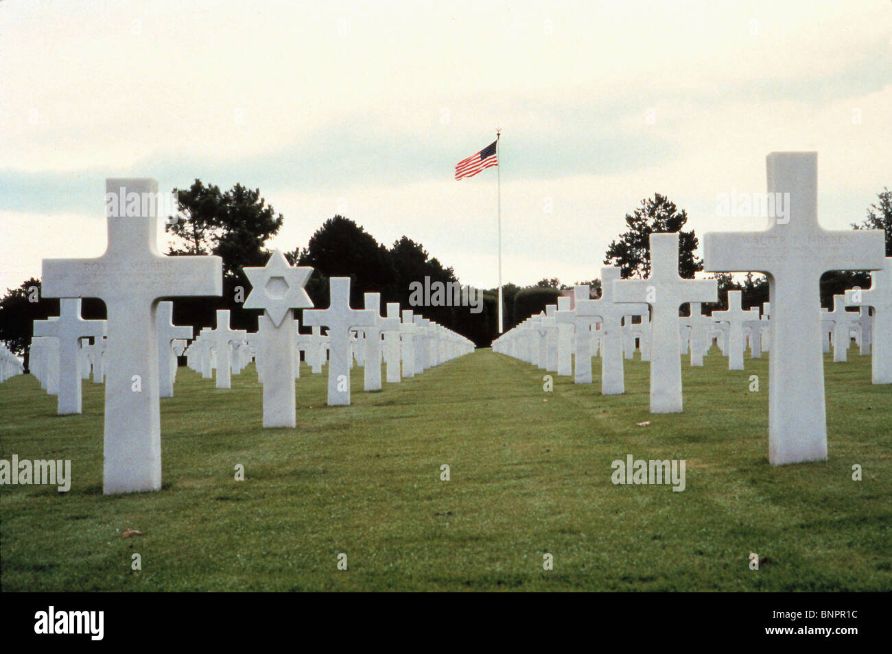 CEMETRY FOR WAR DEAD SAVING PRIVATE RYAN (1998) - Stock Image