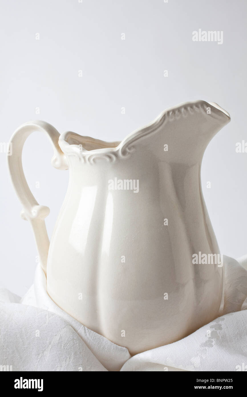 White pitcher - Stock Image