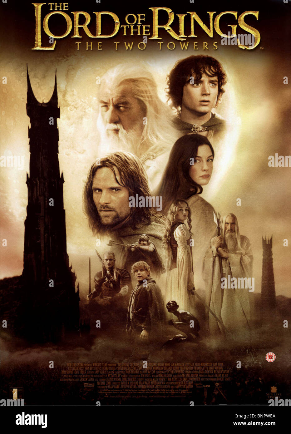 Film Poster The Lord Of The Rings The Two Towers 2002 Stock Photo Alamy