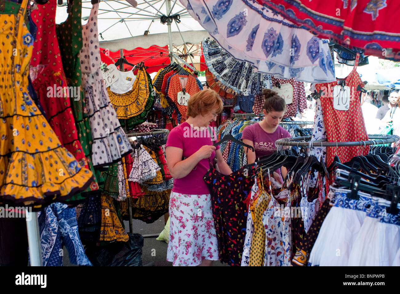 Arles, France, Women Tourists Shopping in Local Provincial Stores, Locally Made Clothing, Souvenirs - Stock Image