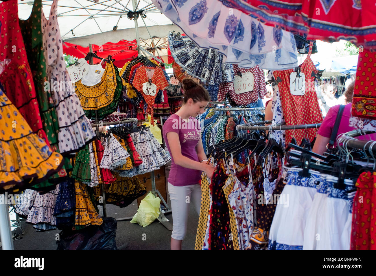 Arles, France, Tourists Shopping in Local Provincial Stores, Locally Made Clothing, Souvenirs - Stock Image