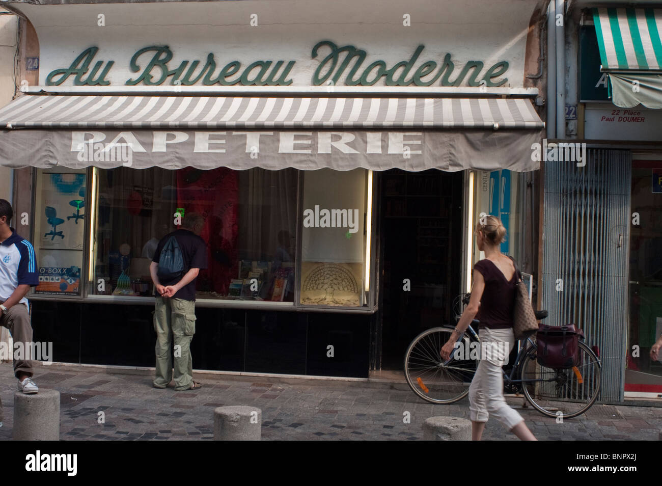 Arles france old store front stationery shop french provence