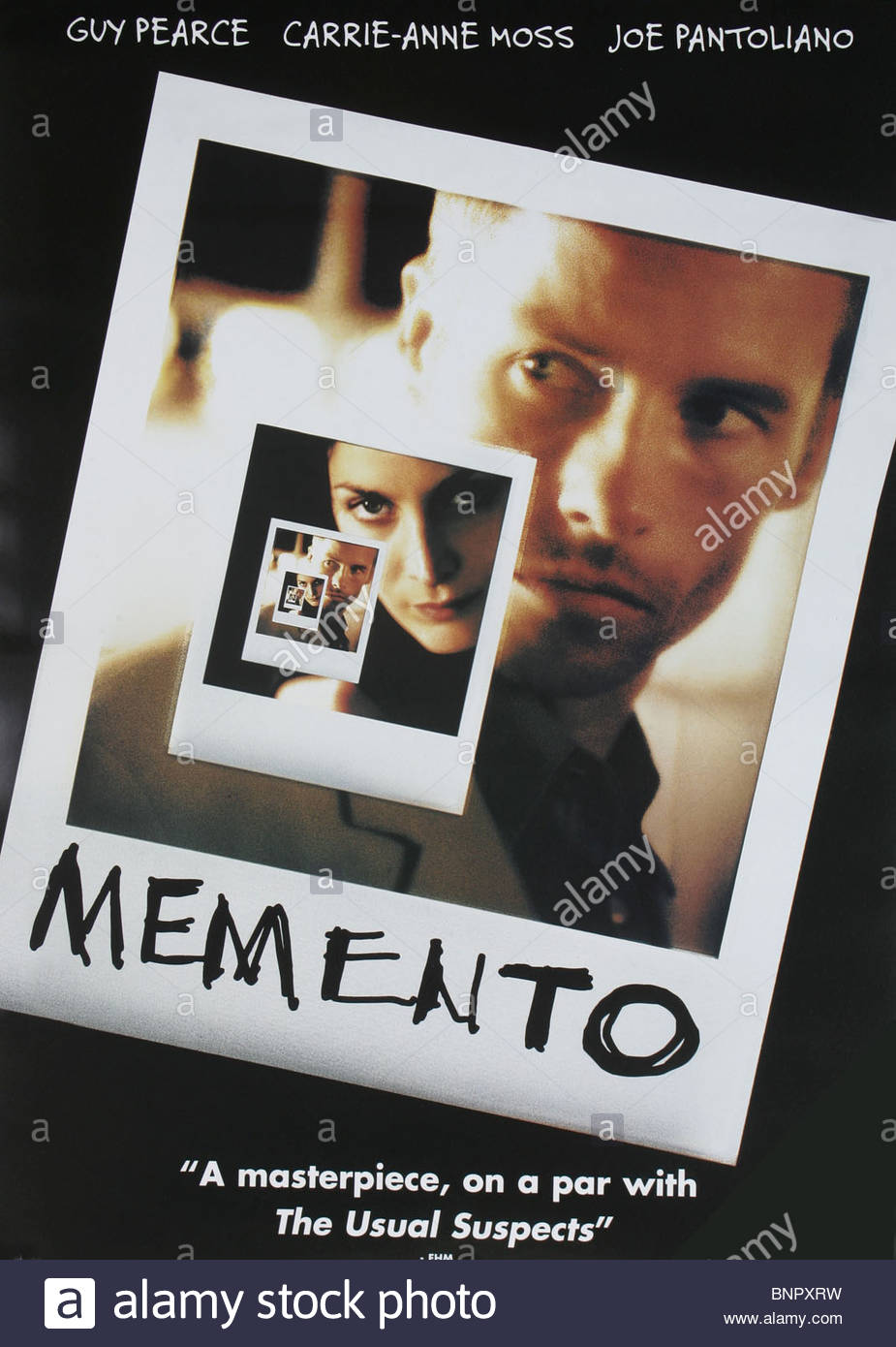 FILM POSTER MEMENTO (2000) - Stock Image