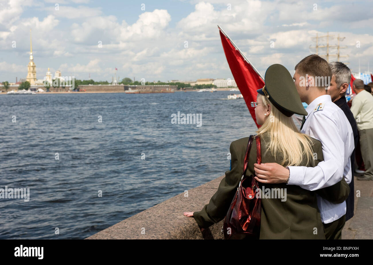 A glance at the Newa, Saint Petersburg, Russia - Stock Image
