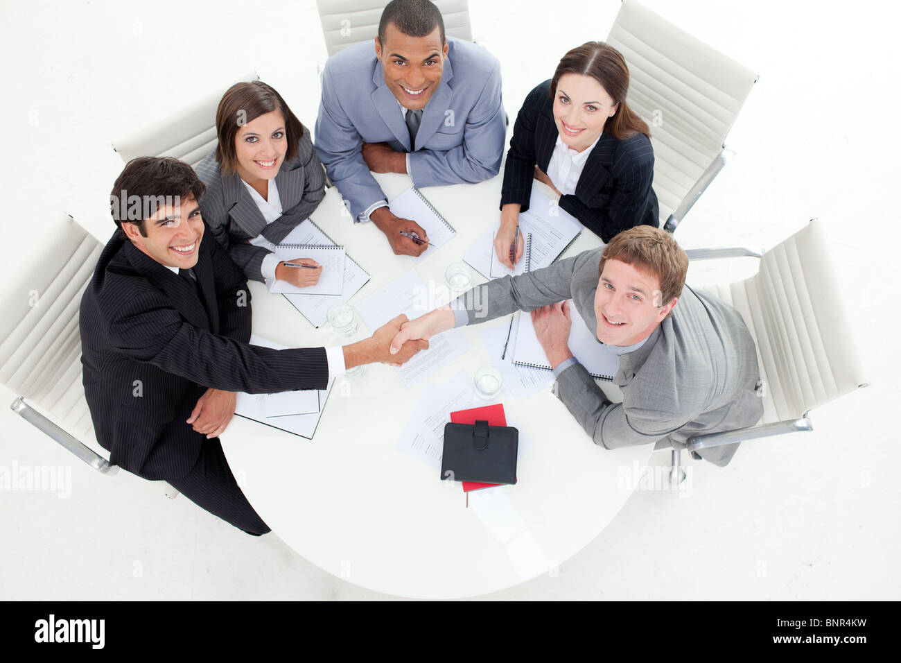 Business people greeting each other stock photo 30626733 alamy business people greeting each other m4hsunfo