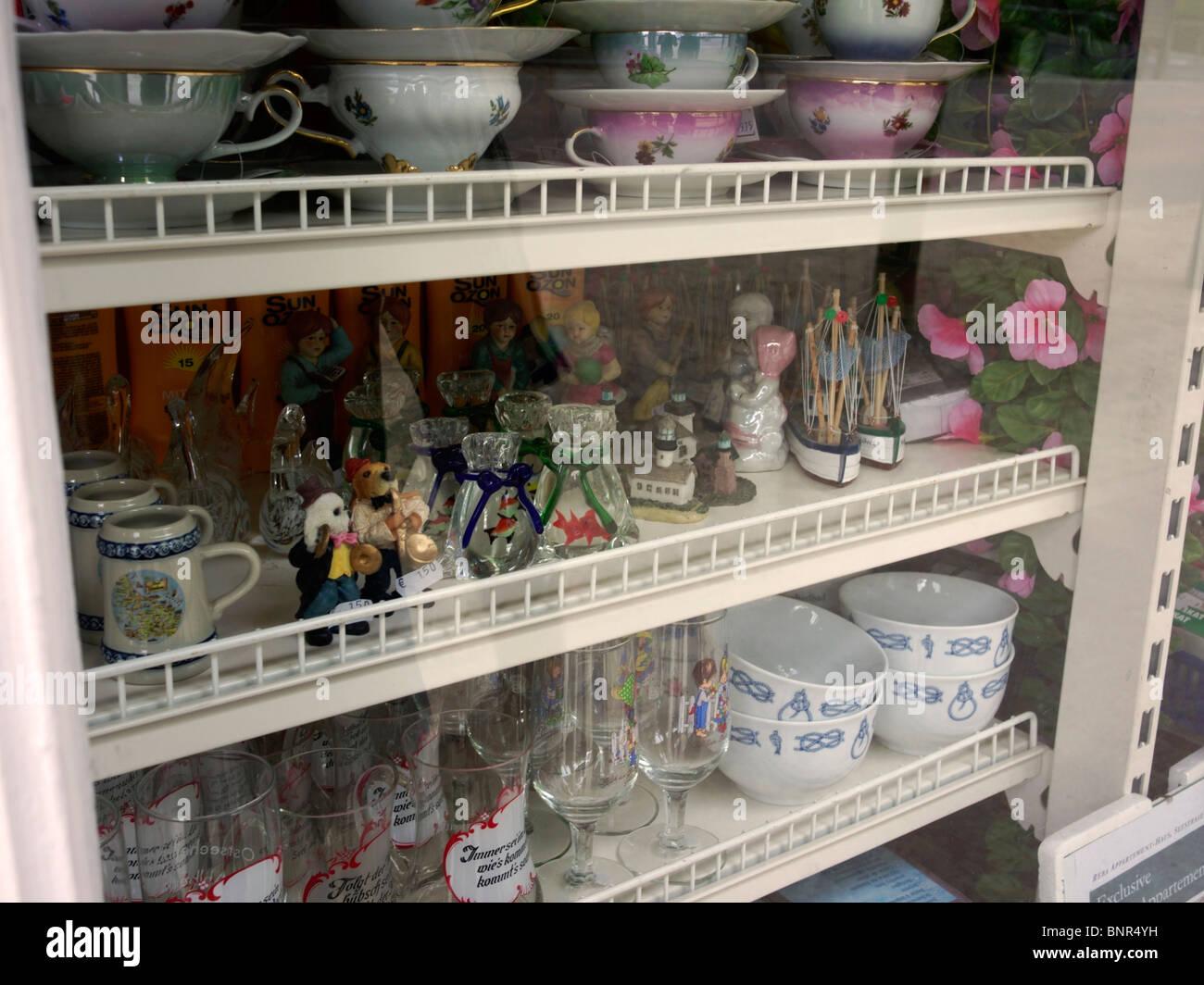Souvenirs made of ceramics in Heringsdorf, German Baltic Coast Stock Photo