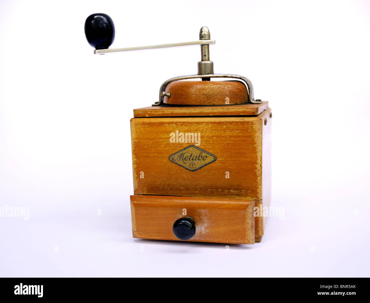 Vintage coffee mill - Stock Image