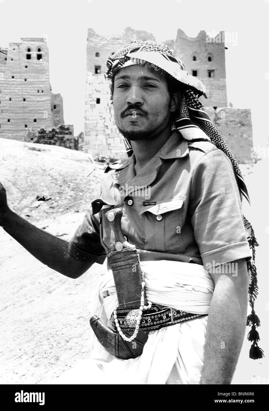 A Yemeni tribesman at Marib, 100 miles east of Sana`a. - Stock Image