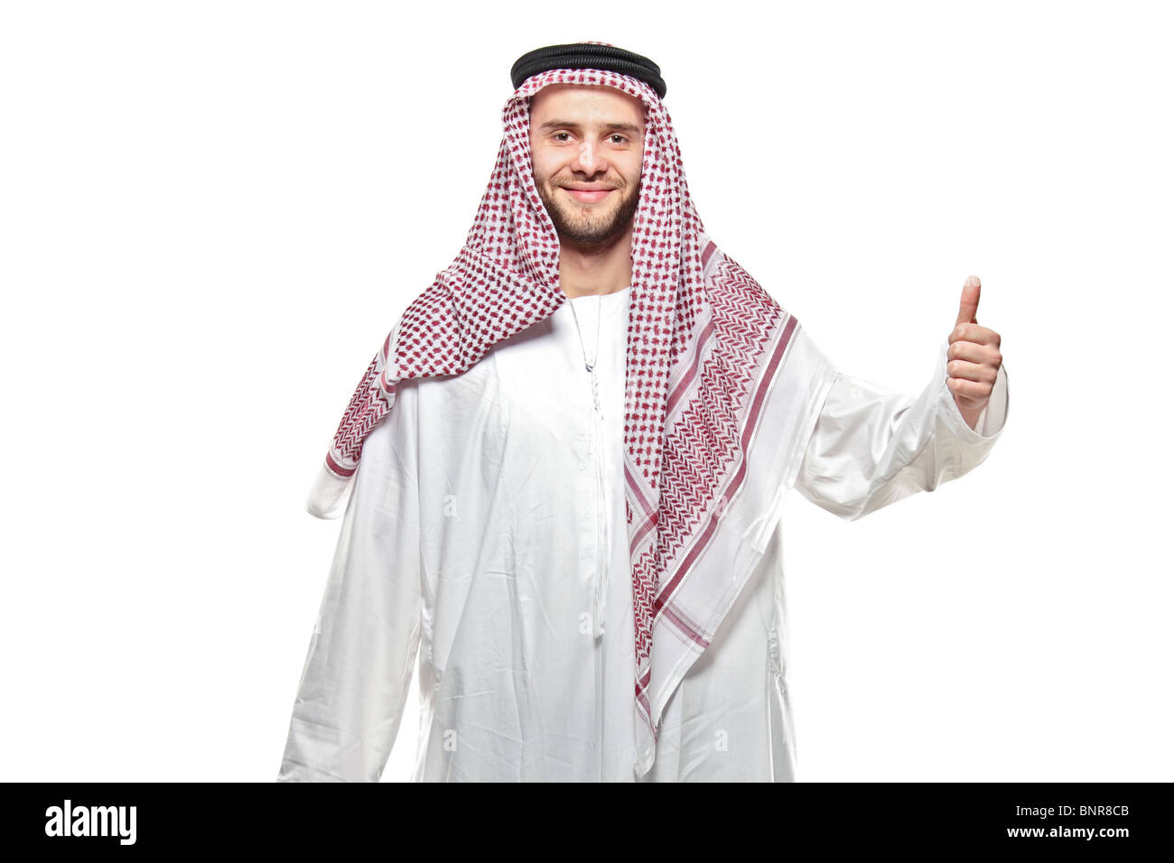 An arab person with a thumbs up Stock Photo