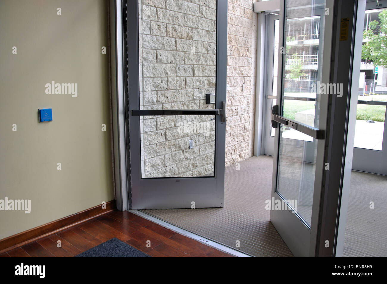 Disabled access to building - automatic doors & Disabled access to building - automatic doors Stock Photo: 30629797 ...
